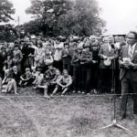 Muziejaus atidarymo iškilmėse kalba A. Puodžiukas.  1978 m.