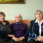 Seserys Onutė Grumbinienė, Danutė Tuskenienė ir Elvyra Bujokienė. M. Karčemarsko nuotr.