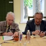 A. Banys ir A. Puodžiukas muziejaus konferencijoje, 2015 m. M. Karčemarsko nuotr.