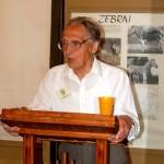 A. Puodžiukas skaito pranešimą muziejaus konferencijoje, 2008 m. Iš Arklio muziejaus rinkinių.