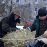 Gerasis Beižionių ūkininkas dovanoja šieną, M. Karčemarsko nuotr.