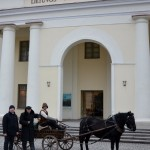 """Žygio """"Aplink Lietuvą"""" knygos perdavimas Lietuvos nacionaliniam muziejui. M. Karčemarsko nuotr."""