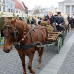 Tradicinis kinkinys atvyko į Rotušės aikštę.