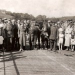 V. Smalį sutinka ant Merkinės tilto