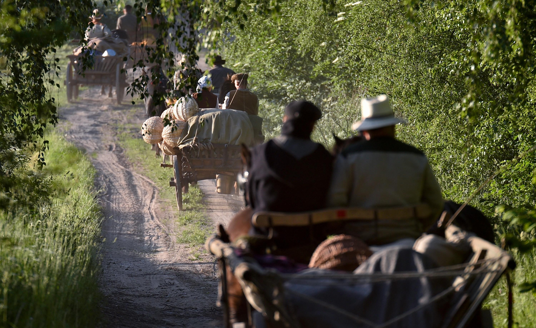 """Tradicinių kinkinių žygį """"Į """"Bėk bėk, žirgeli!"""" – su žemaitukais!"""", Punskas - Anykščiai, 2018 m. Vlado Ščiavinsko nuotr."""